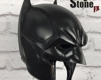 Batman Noël inspired cowl (head piece) / mask for your cosplay costume - black or dark blue (can also be cast in other colors)