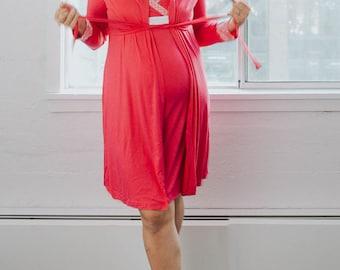 Nursing Nightgown Set   Maternity Nursing Pajamas   2 piece Set   SUPER SOFT   Great Postpartum Recovery Set   Maternity Pajamas
