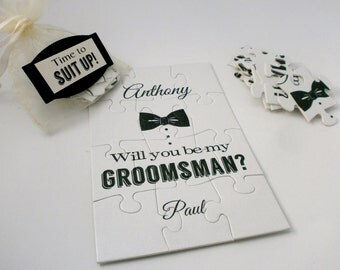 Be My Groomsman, Ring Bearer puzzle, Groomsman Invitation, Will You Be my Groomsman puzzle, Be my Best Man, Groomsman Proposal Card