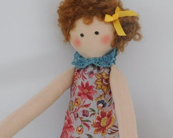 Cloth Doll, Rag Doll, Fabric Doll, Colourful Doll, Handmade Doll, Cute Doll, Gift for Girls