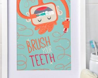 Brush Your Teeth, Myko! in Sea Green