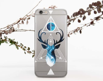 Clear Case Phone Case For Samsung S7 Geometry Case to Galaxy S7 Edge Case Deer to Galaxy S6 Case Phone Case 6S Phone to Galaxy Note 5 026