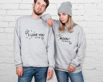 Coffee Lover Sweatshirt Couple Hoodies Couples Sweatshirt Mr and Mrs Sweater Valentine's Day Pärchen Pullover Valentine's Day Gift YPc028
