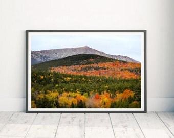 Baxter State Park - Mountain Print Art - Fall Landscape - Mountain Range - Mount Katahdin - Maine Landscape - Photography
