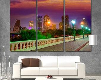 Houston City Houston Canvas Houston skyline Houston print Houston photo Houston poster Houston wall art Houston wall decor Houston Skyline