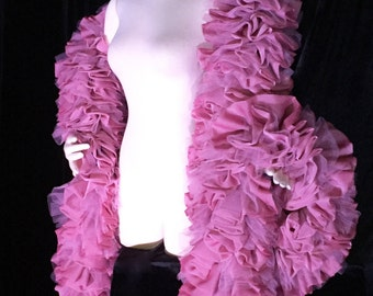 Burlesque Deluxe Dusty Rose Vegan Boa