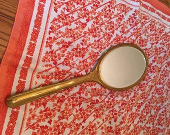 Vintage ELGIN AMERICAN gold art deco hand mirror