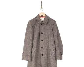 Vintage  Wool Pea Coat - 60s/70s London Fog Wool Lined Button Up PeaCoat - 60s 70s London Fog Grey Wool Dress Coat