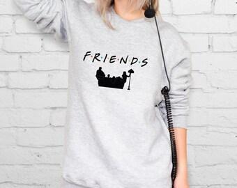 PIVOT Friends sitcom Silver sweatshirt Fancy sweatshirt Gym sweatshirt Friends tv show Sitcom Nineties show Friends sweatshirt YPh041