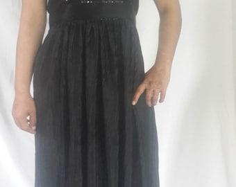 UK Womens New Black beaded Bridesmaid Sleeveless Evening Party Cocktail Dress
