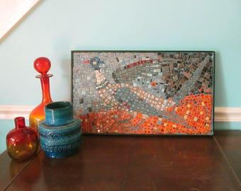 MCM Framed Ceramic Tile Mosaic Panel