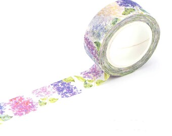 Washi Tape - lilac flower deco washi tape - masking tape, planner stickers, decorative stickers