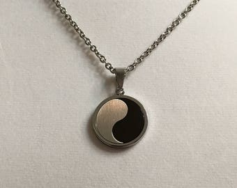 """20"""" 28"""" 36"""" Yin and Yang Sign Stainless Steel Men's Necklace  Woman's Necklace Teens Necklace"""