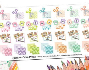 Scrapbooking Scrapbook Planner Stickers | Craft Gift | Scrap Time Stickers Paper Crafts Paper Crafting Time Planner Stickers Fits ECLP More