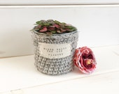 Mini Planter / Succulent Planter / Small Crochet Planter / Spring Home Decor / Mothers Day Gift / Teacher Gift / Bloom Where You Are Planted