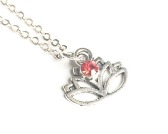 Lotus Necklace, Silver Lotus Necklace, Lotus Flower Necklace, Lotus Jewelry, Yoga Jewelry, Meditation Jewelry, Motivational Gifts