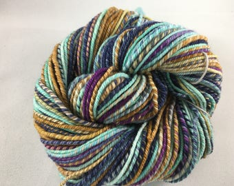 Handspun Yarn 122 Yards DK Weight 100% Merino Wool OOAK