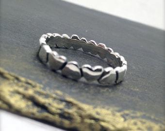 Sterling Silver Heart Design Ring, heart ring, gift for Mum, love heart ring, gift for her,silver heart ring