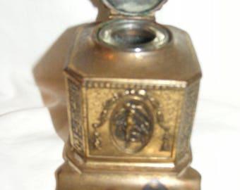 Bronze Vintage Inkwell Circa 1910