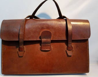 Vintage leather case/ satchel
