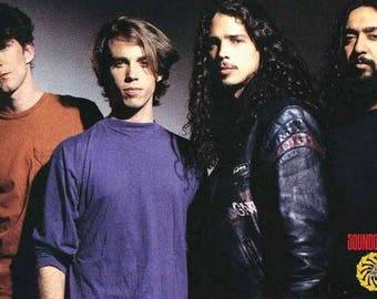 Soundgarden  Chris Cornell Bad Motofinger  Rare Vintage Poster
