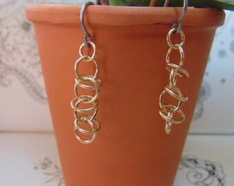 Brass Orbital Earrings