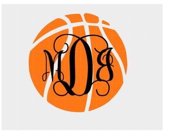 Iron On Basketball Monogram or Sticker/Decal