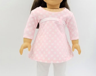 "Leggings and Top for Dolls Like American Girl, 18 Inch Doll Leggings and Top, 18"" Doll Clothes"