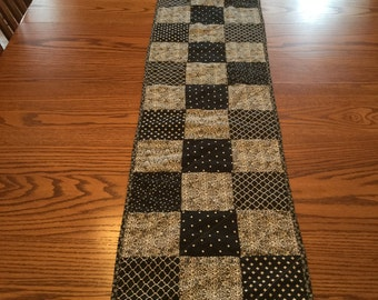 "CLEARANCE...Black/Gray 69""x13"" Table Runner"