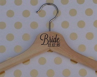 Wooden Wedding Hanger-Bride