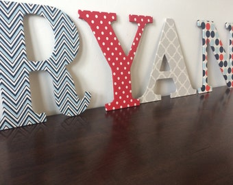 9.5 inch wood letters-  personalized wall decor