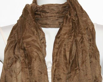 Womens Scarf, Brown Scarf, Chiffon Scarf, Voile Scarf, Cotton Scarf, Fashion Scarf, Shawl, Womans Scarf