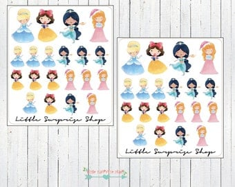 Kawaii Princess #1 Stickers // KC014