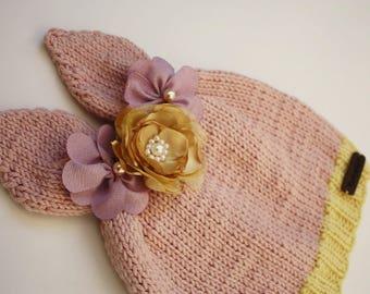 Handmade Easter Bunny Beanie Hat.