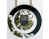 One of a kind hand made and drawn Grace Jones Necklace