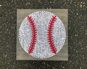 MADE TO ORDER- Baseball String Art