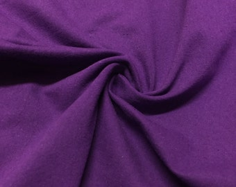 "Purple Cotton Jersey Lycra Spandex Knit Stretch Fabric 58/60"" wide All colors"