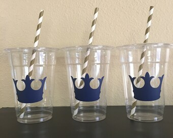 Prince party cups, prince baby shower party cups, prince birthday