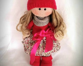 Free shipping Crochet doll,handmade amigurumi doll, handmade doll,nursery decoration doll