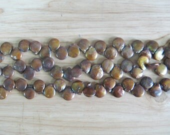 12mm Brown Freshwater Coin Pearl