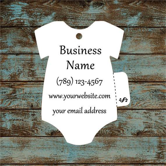 Price Tags - Baby T-Shirt Hang Tags Perforated Custom #695 - Quantity: 30 Tags