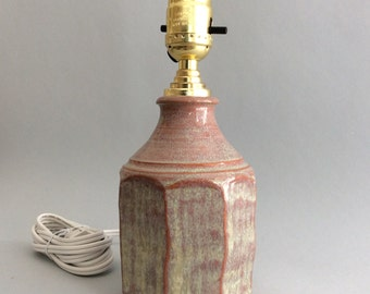 Earthenware  Table Lamp With Facets