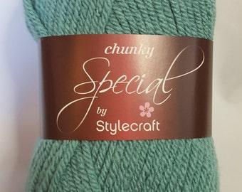 Stylecraft Special Chunky, 100g, SAGE, chunky yarn, sage chunky yarn, green chunky yarn, green