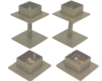 Modern Danish Candle Holders-Set of Four