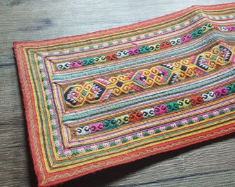 Vintage Hmong fabric from front  Hmong skirt #VT0073