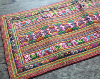 Vintage Hmong fabric from front  Hmong skirt #VT0075