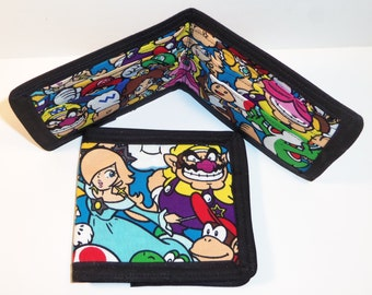 Classic Mario Brother Characters Inspired  Fabric Bi-Fold Wallet