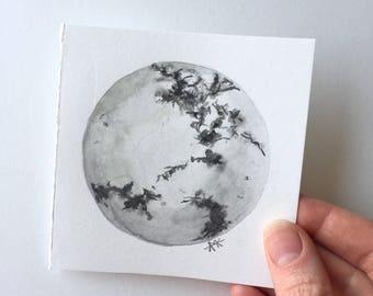 ORIGINAL • Howlite Sphere Original Watercolor Painting
