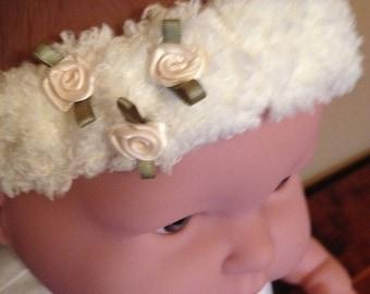 Baby Headband with silk rosettes