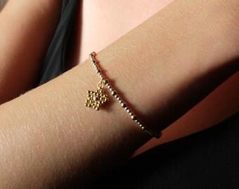 Étoile Charm Bracelet, 925 sterling silver & 14k gold-filled beaded